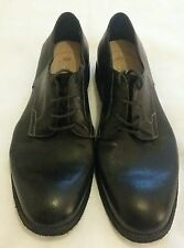 CALZOLERIA CORVARI Vintage Style Lace-up Italy Black Shoe Size uk 8.5 eu 42