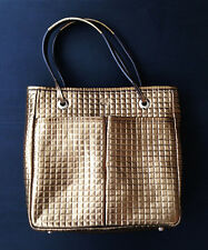 Anya HIndmarch Gold Leather Tote Bag