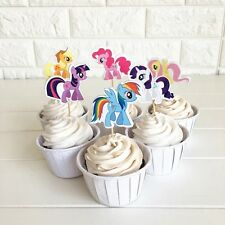 12 x My Little Pony CUPCAKE CAKE TOPPERS Party Supplies Lolly Loot Bags Deco