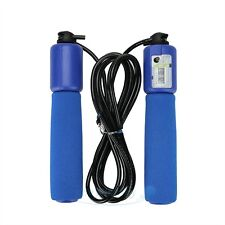 2.6m Handle Skipping Jump Rope with Counter Number for Exercise Workout blue USA
