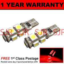 W5w T10 501 Canbus Error Free Rojo 9 Led sidelight Laterales Bombillos X2 sl101703