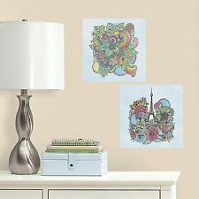 EIFFEL TOWER Color your own Decal Wall Decals PARIS Adult Coloring Stickers Kid