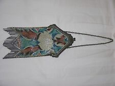 Vintage Mandalian Mfg Co ~Deco~ Flapper Enameled Mesh Purse
