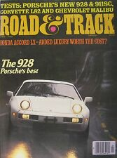 Road & Track magazine 04/1978 featuring Porsche 928 road test, Corvette, MG