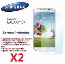 2 X Samsung i9500 i9505 Galaxy S4 IV Screen Protector Crystal Ultra Clear Film