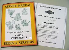 BRIGGS STRATTON 6BS 6BSF SERVICE REPAIR OWNER OPERATOR OPERATING PARTS MANUAL