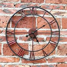 "18.5 "" Large  Captains Wall Clock Old World Charm Ornate Metal Arms Round Natura"
