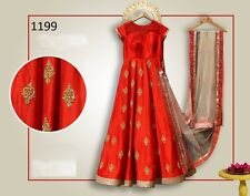 Indian Bollywood Ethnic Designer Anarkali Salwar Kameez Suit &Traditional BRIDN0