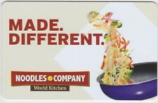 Noodle Company World Kitchen Restaurant Made. Different. Gift Card NO VALUE