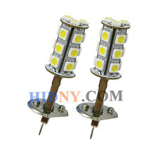 2x H1 18-SMD 5050 LED SMD Fog Lights DRL Driving Lamp Super White Strobe