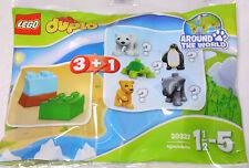 LEGO Duplo Tierbaby 30322 Polybag Tüte, 3 Steine + 1 Tier = kleiner Pinguin NEU
