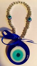 Neckles blue eye pendent lucky western charm deco Glass