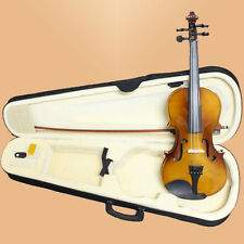 NEW Full Size 4/4 Natural Acoustic Violin + Case Bow Rosin -FREE SHIPPING TO AU