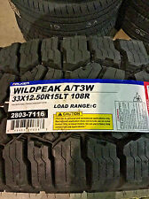 4 New LT 33 12.50 15 Falken Wildpeak A/T3W 6 Ply Tires