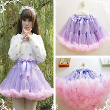 Purple Pink Bridal Petticoats Girl Party Tutu Underskirt Lolita Costum Skirt