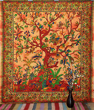 Tree of Life Hippie Tapestry Wall Hanging Bohemian Wall Tapestries Cotton Bedspr