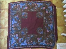 Vintage Cotton Scarf Charles Demery Tissu Souleiado 30 X 30 French Provencial