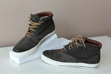 Polo Ralph Lauren Men´s Zale Suede High-Top Sneakers Shoes  SZ 9D BROWN OLIVE