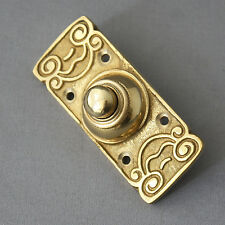 Art Nouveau Style Brass Electric Bell Push