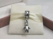 New w/Box RETIRED Pandora Silver My Little Boy Dangle Charm #790859 Mom Mother