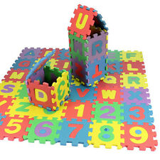 36pcs Baby Kids DIY Alphanumeric Educational Puzzle Blocks Infant Toy Gifts