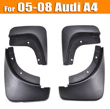 SET MOLDED MUDFLAPS FIT FOR 05-08 AUDI A4 B7 MUD FLAPS SPLASH GUARDS MUDGUARDS