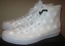 CONVERSE CHUCK TAYLOR ALL-STAR II HI MENS Sneakers WHITE SILVER 151158C Size 10