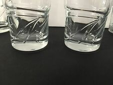 "Michelob Ultra Beer Glass ""M' Logo ~ 16 Oz ~ Set of Two (2) Glasses ~ NEW NOS"