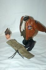 1/6 WW2 US 101st Airborne officers bomber jacket uniform boots & cap lot