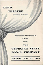 "Lyric Theatre ""The Georgian State Dance Company"" Program May 23, 1960"