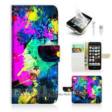 iPhone 5 5S Print Flip Wallet Case Cover! Colourful Painting P0109