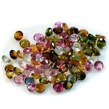 1Pc Natural Tourmaline Multicolor Round Faceted (approx. 3.6mm to 4mm)