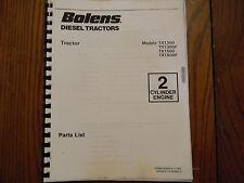 Bolens Iseki TX 1300 and TX1500 tractor parts manual