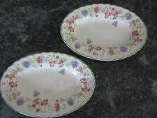 CHURCHILL STAFFORDSHIRE ENGLAND EMILY TWO RELISH DISH GRAVY UNDERPLATES
