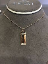 """Kwiat 18k Rose Gold 0.19ct Name Tag Necklace 18"""""""