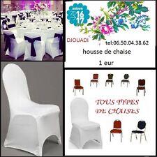 location HOUSSE DE CHAISE     LYCRA EXTENSIBLE MARIAGE  blanc