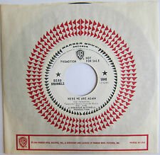 BEAU BRUMMELS: Here We Are Again/Fine With Me - Warner Brothers Promo Strong VG+