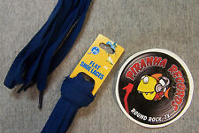 "Navy Blue Thin Flat 36"" x (3/8""-5/8"") JN Shoelaces Shoe Strings Piranha Records"
