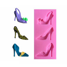 3D High Heel Shoes Silicone Mould Cake Decorating Chocolate Baking Supplies