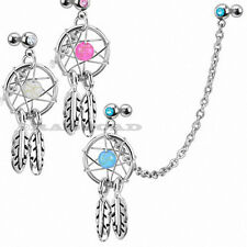3 x LOT Dream Catcher Ear Piercing Cartilage Stud Earring Helix Tragus Cuff E66