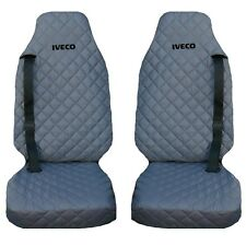 IVECO Stralis Truck Seat Cover's 2 piece (1+1) WATERPROOF GREY