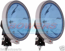 "PAIR OF SIM 12V/24V 9"" ROUND BLUE LENS SPOTLIGHTS SPOTLAMPS TRUCK LORRY 4x4"