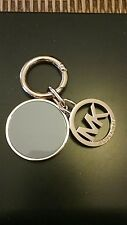 Michael Kors MK Logo Blue Hang Tag Fob Charm Key Chain