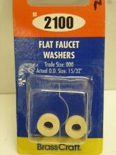"""Brass Craft FLAT FAUCET WASHERS, TRADE SIZE: 000, O.D. 15/32"""", WHITE, SC2100"""