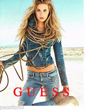 PUBLICITE ADVERTISING 065  2013  GUESS  mode jeans  haute couture