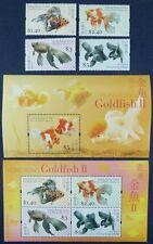 Hongkong 2005 Goldfische Gold Fish Fische Pesci 1290-93 + Block 144-145 ** MNH
