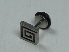 1 Piece Men's Stainless Steel Cool Unique Square Stud Earring