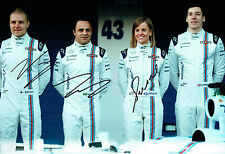 Felipe MASSA Valtteri BOTTAS Susie WOLFF Multi Signed Autograph Photo AFTAL COA