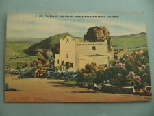 Pueblo At Red Rocks DENVER MOUNTAIN PARK COLORADO CO Vintage Linen Postcard