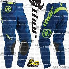 "Thor 2016 Phase Gasket Navy Lime Race Pants 30 inch 30"" Motocross Enduro ATV"
